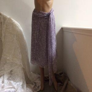 Carolina Herrera 100% Silk Chiffon Skirt  New